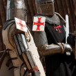 Two knights in armour - Stock Photo
