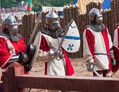 üç ortaçağ şövalyeler — Stok fotoğraf