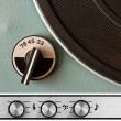 Vinyl player controls - Stock Photo