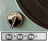 Vinyl player controls — Stock Photo