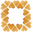 Royalty-Free Stock Photo: Frame from heart shaped waffles