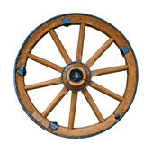Old wooden wheel — 图库照片