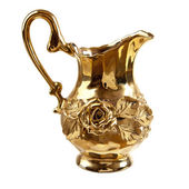 Golden pitcher — Stock Photo