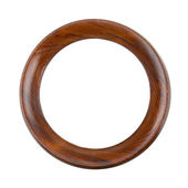 Round wooden frame — Stock Photo