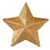 Gold christmas star — Stock Photo