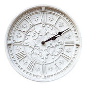 Isolated wall clock — Stockfoto