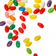 Color jelly beans over white — Stock Photo
