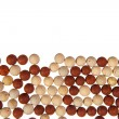 Red and yellow stone balls background — Stock Photo #33359717