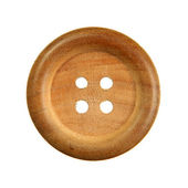Wooden sewing button — Foto Stock