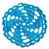 Blue handmade crochet — Foto Stock