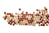 Red and yellow stone balls background — Stock Photo