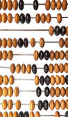 Wooden abacus beads  — Stock Photo