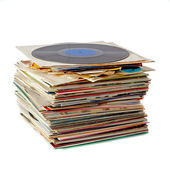 Pile of vinyl records — Stock Photo