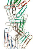 The color paperclips  — Foto Stock