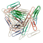 The color paperclips  — Stock fotografie