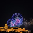 Annual fireworks in Budapest — Stock Photo #12422473