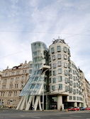 The Dancing House in the center of Prague. — Stock Photo