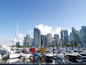 Harbour of Vancouver city, British Columbia, Canada — Stock Photo