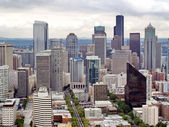 Aerial view of Seattle city — Stock Photo