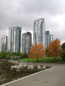 Towers of Vancouver city — Stock Photo