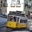 The famous line 28 tram in Lisbon, Portugal — Stock Photo