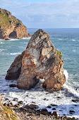Penhascos de pedra à beira-mar (cabo da roca, portugal) — Fotografia Stock