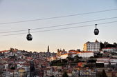 Cable car of Porto (Portugal) — Stock Photo