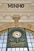 Great clock of Porto railway station — Stock Photo