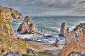 Rock cliffs by the sea (Cabo da Roca, Portugal) — Foto Stock