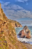 Rock cliffs by the sea (Cabo da Roca, Portugal) — ストック写真