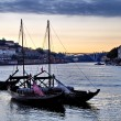 Stock Photo: Wine boats on river Douro, Porto, Portugal