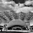 Gare de Oriente railway station, Lisbon, Portugal - Stock Photo