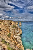 Rocky coast of Portugal in HDR — Foto de Stock