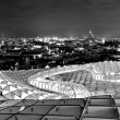 SEVILLA,SPAIN -SEPTEMBER 27: Metropol Parasol in Plaza de la Enc - Stock Photo