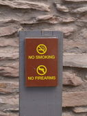 No smoking and no firearms sign — Stock Photo