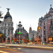 MADRID,SPAIN - SEPTEMBER 30: Gran Via street on September 30, 20 — Stock Photo