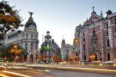 MADRID,SPAIN - SEPTEMBER 30: Gran Via street on September 30, 20 — Stock Photo