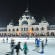 Ice skaters in City Park Ice Rink — Stock Photo
