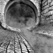 Steamy entrance of a tunnel — Stock Photo