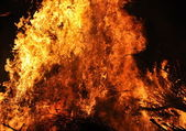 Flames of burning fire — Stock Photo