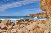 Rocky coast of Portugal in HDR — Stock Photo