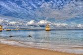 Rotsachtige kust van portugal in hdr — Stockfoto