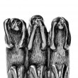 Stock Photo: Hear speak see no evil