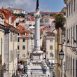Statue of Dom Pedro IV, Lisbon, Portugal - Stock Photo