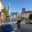 Stock Photo: SAN FRANCISCO - OCTOBER 1: unidentified mCycling on st