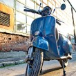 Budapest, HUNGARY - JULY 09: Old Vespa scooter parked in a stree — Stock Photo #35268535