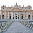 View of the basilica of St. Peter — Stock Photo