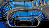 Blue staircase — Foto de Stock
