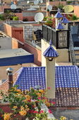 Arabic style chimney in Morocco — Stock Photo
