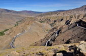 Curly road in the High Atlas mountains in Morocco — Stock Photo